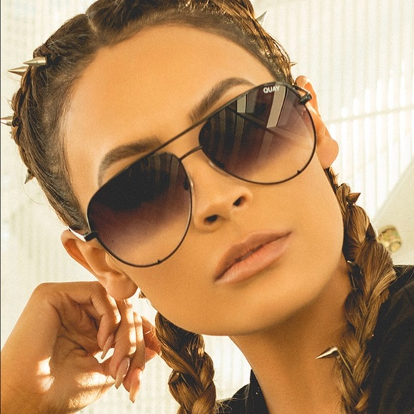 51e77bca92a Desi X Quay High Key Black Fade Sunglasses. M 5a57797b3800c55a9f012f4c